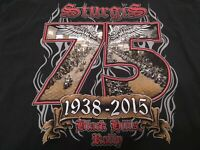 STURGIS 75th ANNIVERSARY T-Shirt - Men's Size 2XL Black Hills Motorcycle Rally
