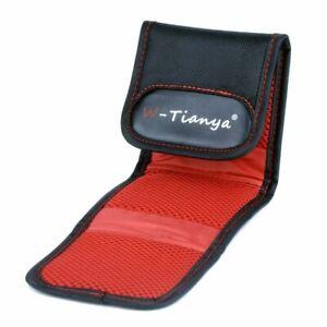 WTIANYA 3 Pocket Lens Filter Case Pouch Wallet For Filters up to 77mm UK seller