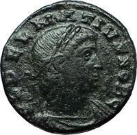 DELMATIUS 335AD Constantinople Authentic Ancient Roman Coin SOLDIERS i66361