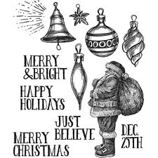 Tim Holtz Stampers Anonymous Cling Mounted Rubber Stamp Festive Sketch Christmas