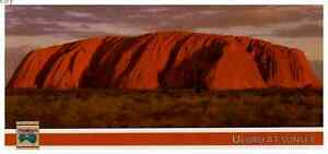 VTG 8 1/2 INCH LONG PHOTO POSTCARD ULURO AT SUNSET  NORTHERN TERRITORY AUSTRALIA
