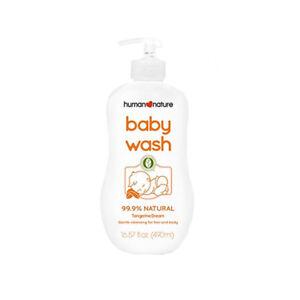 Human Nature Natural Baby Wash Tangerine Dream 490ml