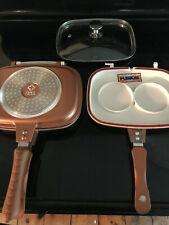 New listing 4 Pc Cook's Companion Cast Aluminum Ceramic Nonstick Flip Pan, Cover, Pancake