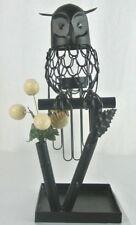 Teelicht Halter in Form einer Eule, Kerzen Halterung Metall