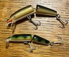 TWO Rapala Jointed Minnows Floating & Countdown Ex Condition *