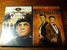 Kirk Douglas Lot 2 Gunfight at Ok Corral & Paths of Glory Dvd's Like New!mint