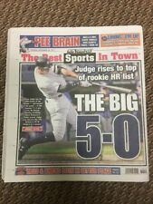 AARON JUDGE ROOKIE HOME RUN RECORD 50 HR NY YANKEES NY POST NEWSPAPER 9/26/17
