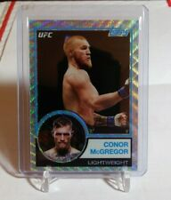 2018 Topps UFC Chrome Conor McGregor 🍀 REFRACTOR Parallel, Numbered #50/99