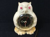 RARE VINTAGE SESSIONS OWL ALARM CLOCK MODEL 1A. PARTS OR REPAIR NOT WORKING