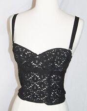 Sonia Rykiel Pour H&M bustier corset bra top black lace US Size 6