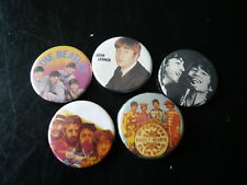 THE BEATLES...5 MODERN BEATLES BADGES...POP ROCK PIN BADGES COLLECTION