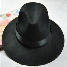 Unisex Women Men Vintage Blower Jazz Hat Flat Top Fedora Trilby Derby Cap Hat JJ