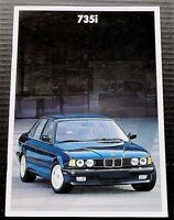 "ORIGINAL 1987 BMW 735i PRESTIGE SALES BROCHURE ~ 30 PAGES ~8"" X 11.5"" ~B787"
