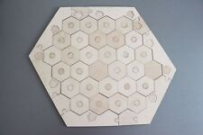 Settlers of Catan Board Unfinished | 5-6 Players FULL Wood, Laser Cut.