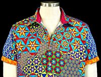 "Robert Graham The ""Prism"" NWT $348 Wild Embroidered Skull Limited Edition Medium"
