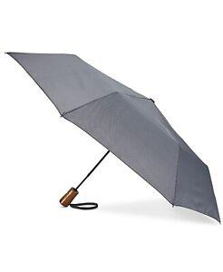 $155 Shedrain Gray Windpro Wood Handle Compact Rain Automatic Folding Umbrella