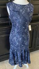 ADRIANNA PAPELL $189 Sequin Gown Midnight Blue NWT WEDDING MOB PROM GALA Size 12