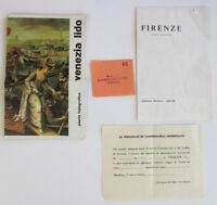 Vintage 1970s ITALY TRAVEL BROCHURE COLLECTION Lot Map Souvenir Florence Venice