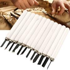 12 Stk. Wood Carving Hand Meißel Stichel Werkzeugset Holzverarbeitung Gouges Kit