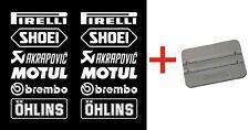 Brembo Öhlins Motorsport Sponsoren Aufkleber Racing Set Motorrad Auto