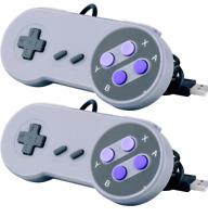 2x SNES Super Nintendo USB PC game controller Rasberry pi nes famicom joystick