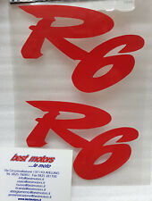 COPPIA ADESIVI SCRITTA YAMAHA R6 MOTORCYCLE SCOOTER STICKER DECAL TUNING