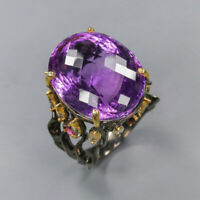 Amethyst Ring 925 Sterling Silver Size 8.5 /RT20-0155