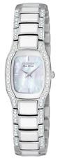 Citizen Ladies Eco-Drive Silhouette Crystal Black Dial Diamond Watch- EW9780-57E