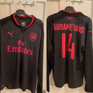 Arsenal Third Shirt 2017/18 3rd Jersey Aubameyang 14. Rare Authentic Original L
