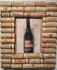 CORK THERAPY Wine Cork Portrait Desktop Picture Frame With 5 X 7 Opening