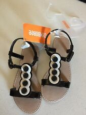 Gymboree Black And White Button Sandals Toddler Size 10 NWT