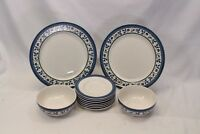 Pfaltzgraff Orleans Plates Saucers Bowls Lot of 11