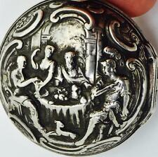 MUSEUM Renaissance Verge Fusee Repousse silver pair case watch.Josephson,c1730
