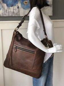 COACH 65th Anniversary XL THOMPSON Brown Leather Shoulder Carryall Purse 11374