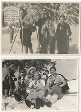 Skiläufer am Bodenschneidhaus bei Fischhausen, Schliersee, Fotografie um 1930
