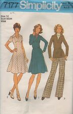 Simplicity 7177 Stylish Misses Dresses Top and Pants Size 14