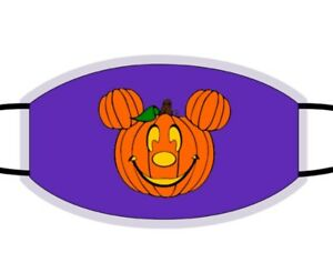 Disney Halloween Face Mask. Mickey Mouse Pumpkin Head. Kids Mask. Adult Mask