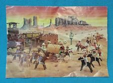 Vintage Playmobil Fort Bravo Instructions Poster ~3733