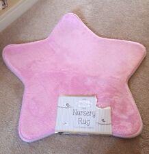 Little Dreams Pink Girls Unisex Star Nursery Rug Mat 70cm Diameter