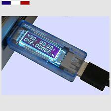Testeur USB tension courant Vu-mètre Voltmètre Ampèremetre