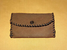 VINTAGE MONEY PENNY NICKLE DIME QUARTER MADE IN USA LEATHER COIN PURSE WALLET