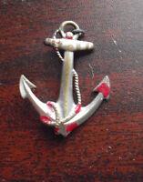 Vintage 1940s Metal Ship Anchor Pinback