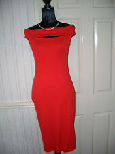 ASOS BRIGHT RED BODYCON DRESS SIZE 10 NEW WITHOUT TAGS