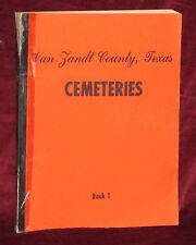 B & D Beard, Van Zandt County Texas CEMETERIES Book 1 sc 1976 1st Vintage-Good