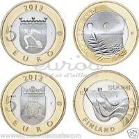2 X 5 euros commémoratives FINLANDE  2013  -  Savonia et Karelia   -  Neuve