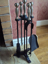 """COMPANION SET BLACK/PEWTER HEIGHT 22"""" FIRESIDE ACCESSORIES"""