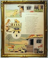 Benjamin Rabier 1906 2 Illustrations Fable Of the Fountain Dog Smooth Bird
