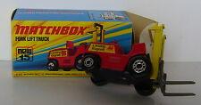 Matchbox - Superfast - MB 15 Fork Lift Truck -OVP -  seltener Radtyp
