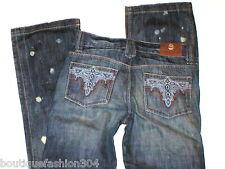 New Girls Jeans 14 $120 NWT Boot Cut Leg 27 X 31.5  Antik Denim Designer Paint