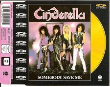 CINDERELLA - somebody save me CD VIDEO 4TR GOLD DISC 1988 UK RARE!!